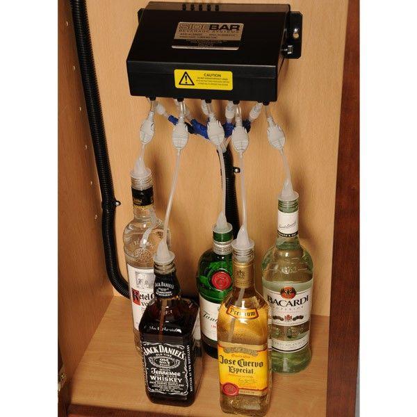 Sidebar Electric Liquor Beverage Dispenser System Liquor