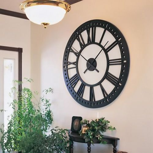 Oversized Tower 38 Inch Wall Clock Www Hayneedle Com Decor Black