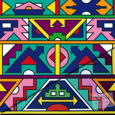 Pattern Afrika Ndebele Muster African Art Paintings African Art