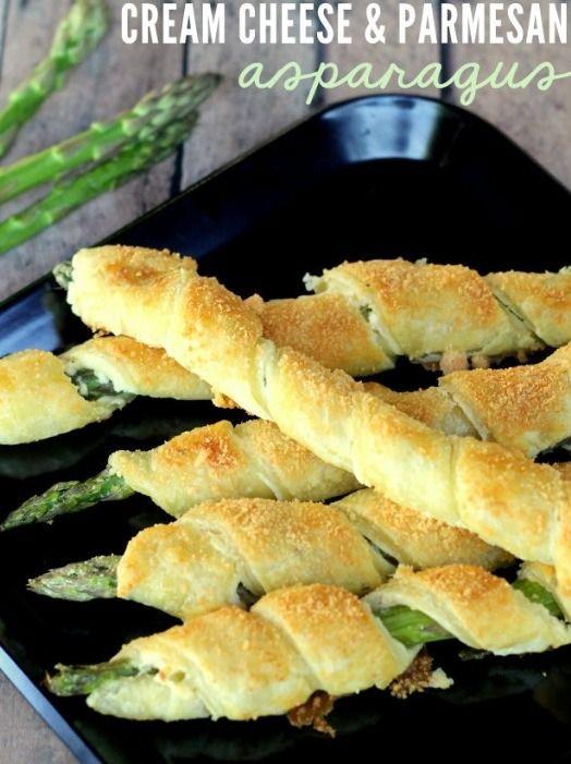 Yummy Cream Cheese & Parmesan Asparagus Puffs!Please like if you save! ❤