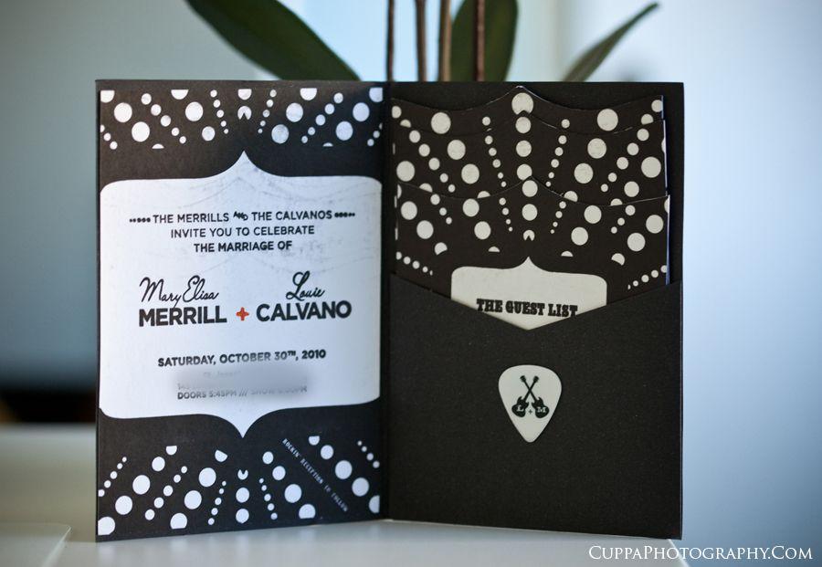 Guitar Themed Wedding   Maine wedding photographers, letterpress ...