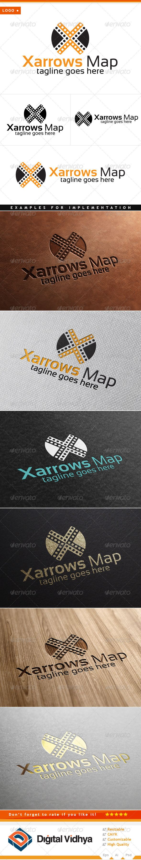 X Letter Arrows Logo Arrow Logo Arrow Symbol Text And Arrow