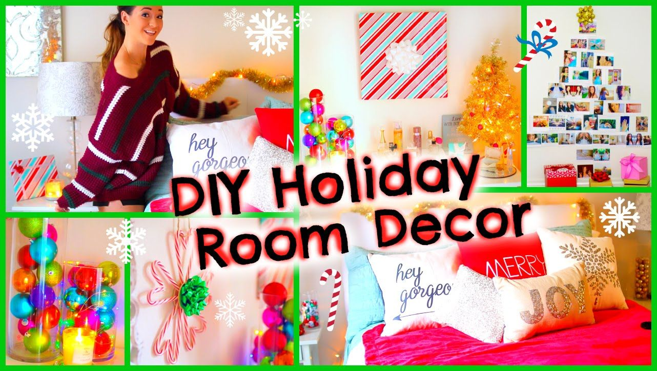 DIY Holiday Room Decor ♡ + Fun Christmas Decorations for