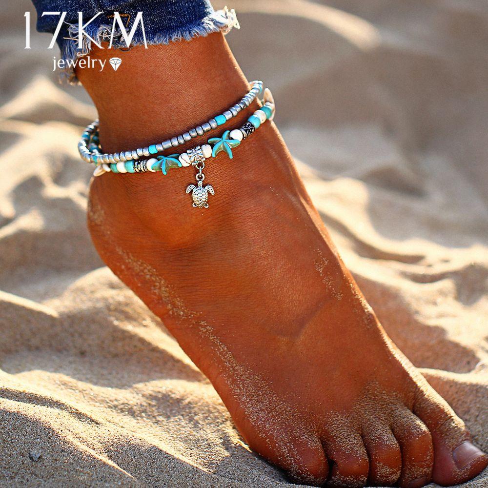 Bohemian Summer Boho Shell Beads Anklet Bracelet Women Beach Ankle Gift