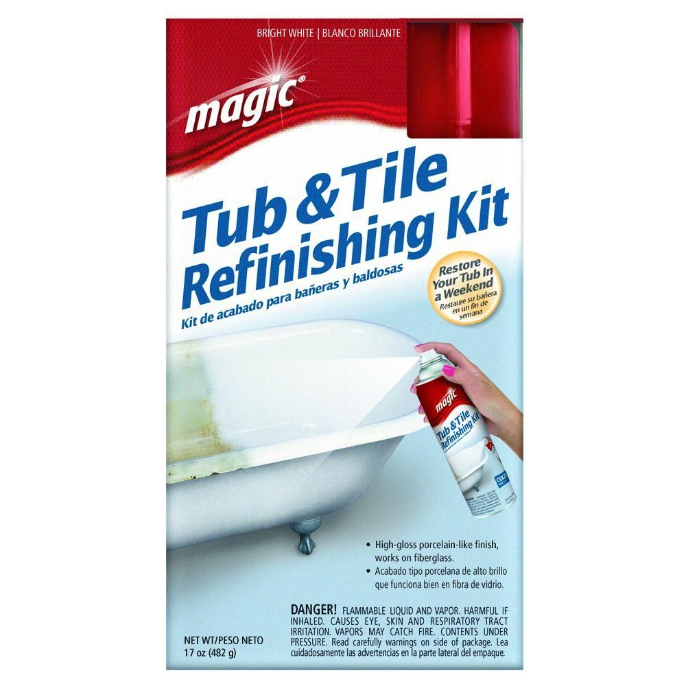 Magic 17 oz. Bath Tub and Tile Refinishing Kit in White-3020 - The ...