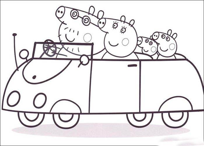 Dibujo Para Colorear Peppa Pig E Imprimir Peppa Para Pintar Dibujo De Peppa Pig Peppa Pig Para Colorear