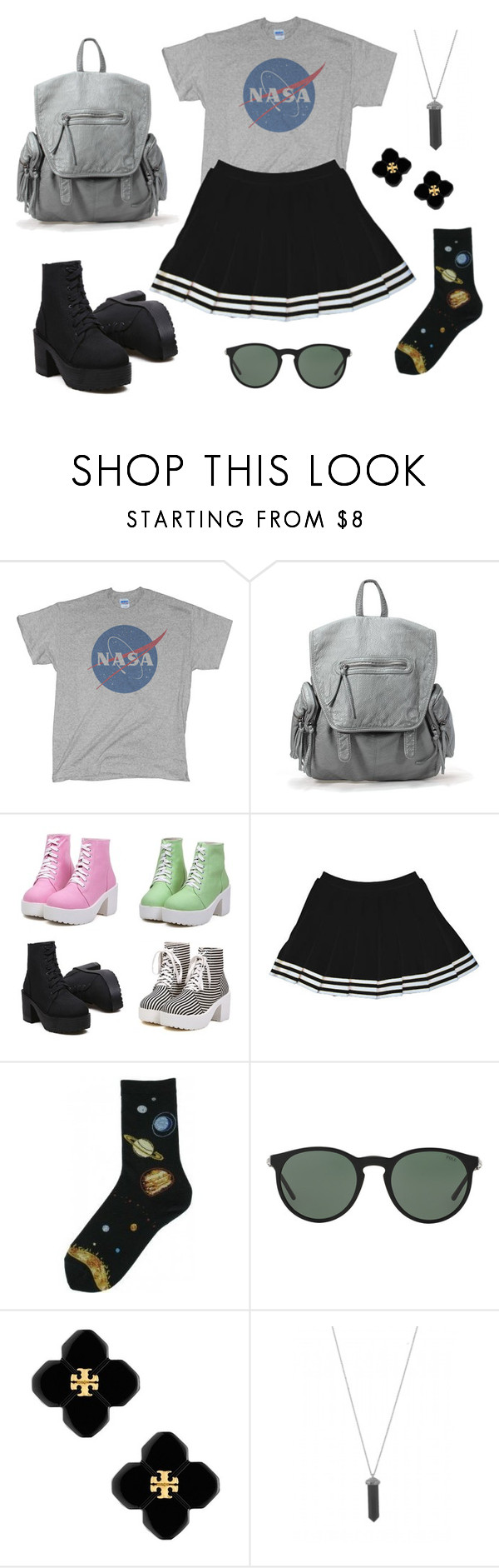 """""""NASA"""" by cosmicstarprince ❤ liked on Polyvore featuring Polo Ralph Lauren, Tory Burch and Karen Kane"""