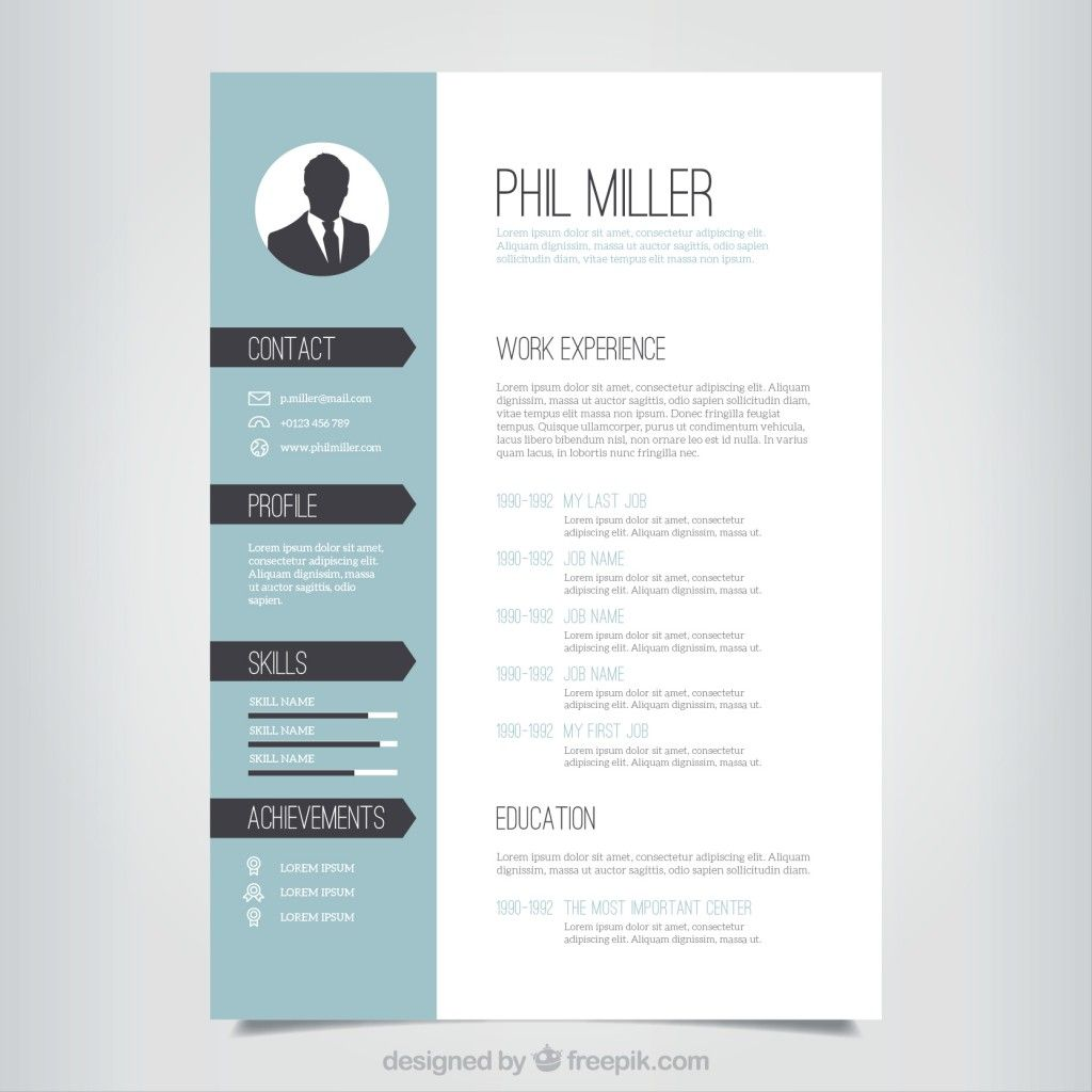 Resume Vectors Photos And Psd Files Free Download Downloadable Resume Template Resume Template Free Resume Design Template