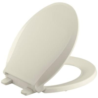 Kohler Cachet Quiet Close Round Closed Front Toilet Seat With Grip