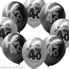 40 Black Silver 40th Birthday 11 40th bday Pinterest 40