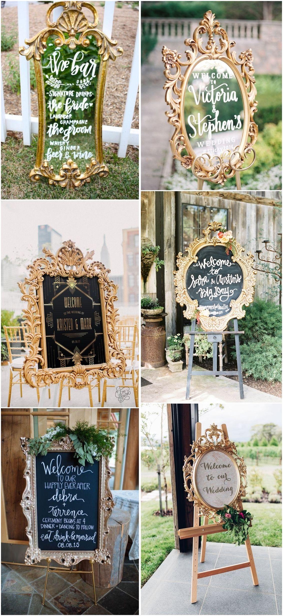 Unique Wedding Signs Weddings Weddingideas Vintage Vintageweddings Unique Wedding Signs Wedding Decorations Wedding Frames