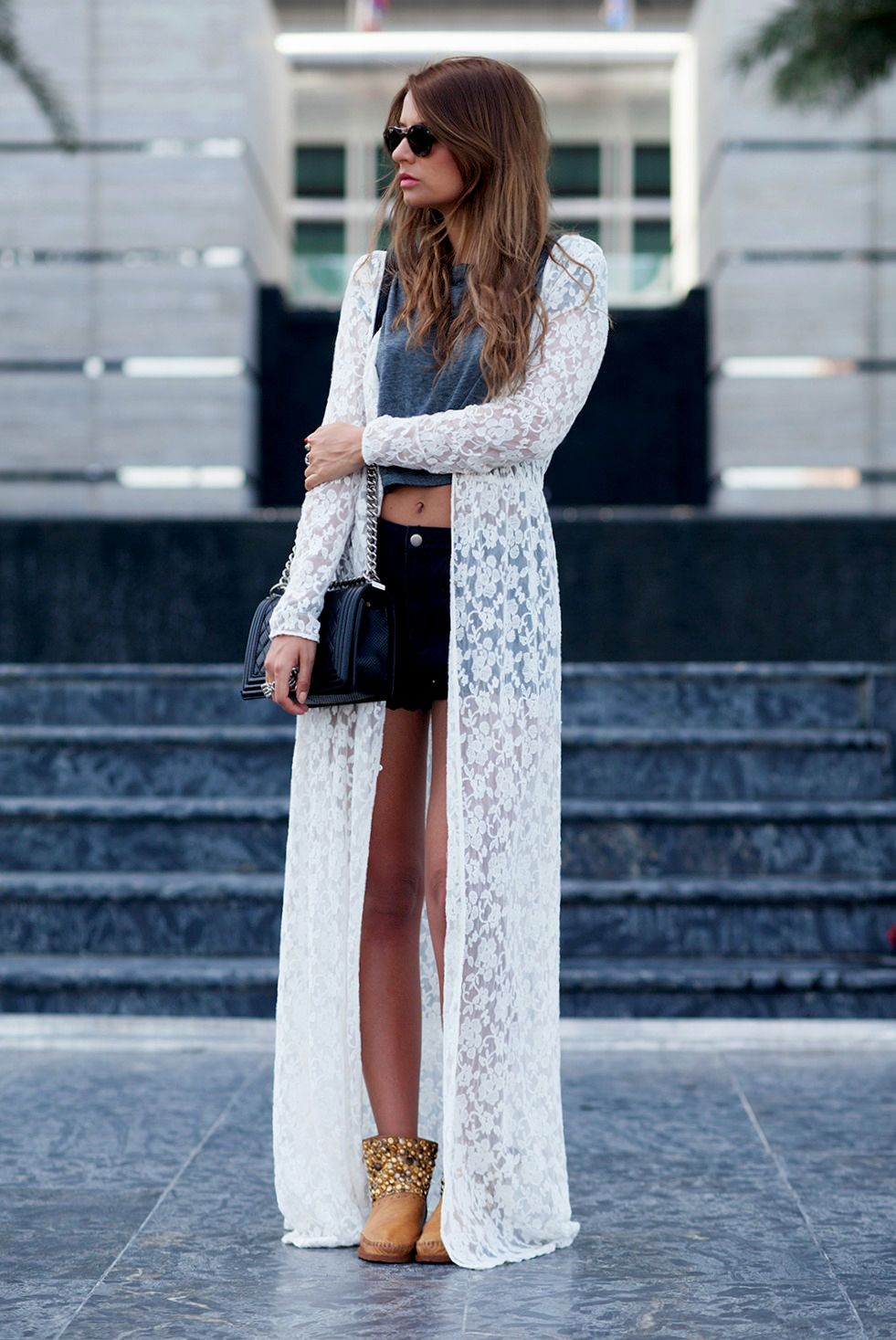 Long lace cardigan - Cara Loren In Shopriffraff S Cream Lace Long Overlay Cardigan This Shop Has The Cutest Trends At The Best Prices Cool People In Riffraff Pinterest