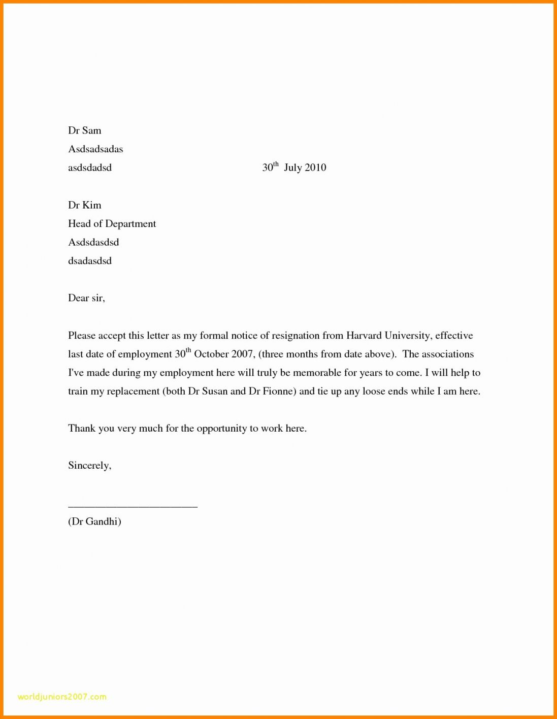 Credit Card Closing Letter Template