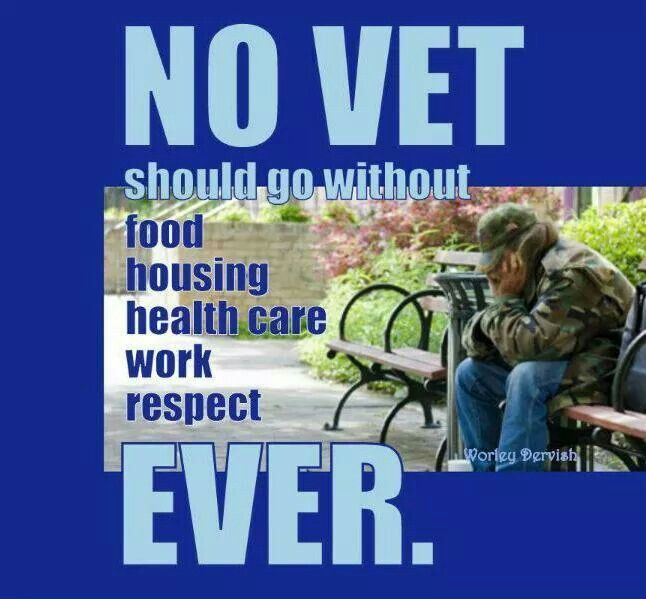 No Vet should go without...Ever!!