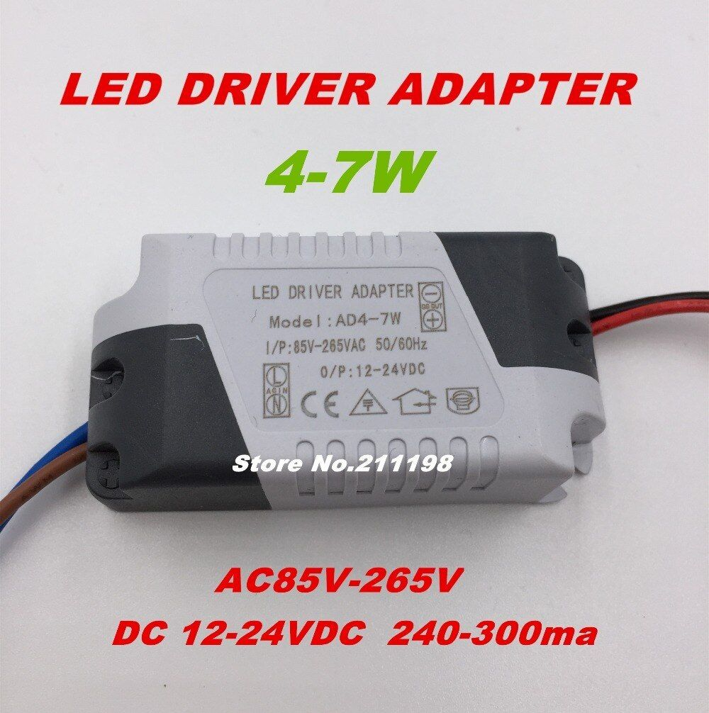 Free Shipping 4 7w Dc12 24v Isolated Led Driver Power Supply External Constant Current Lighting Transformers For Diy Led Li Led Lighting Diy Led Diy Led Lights