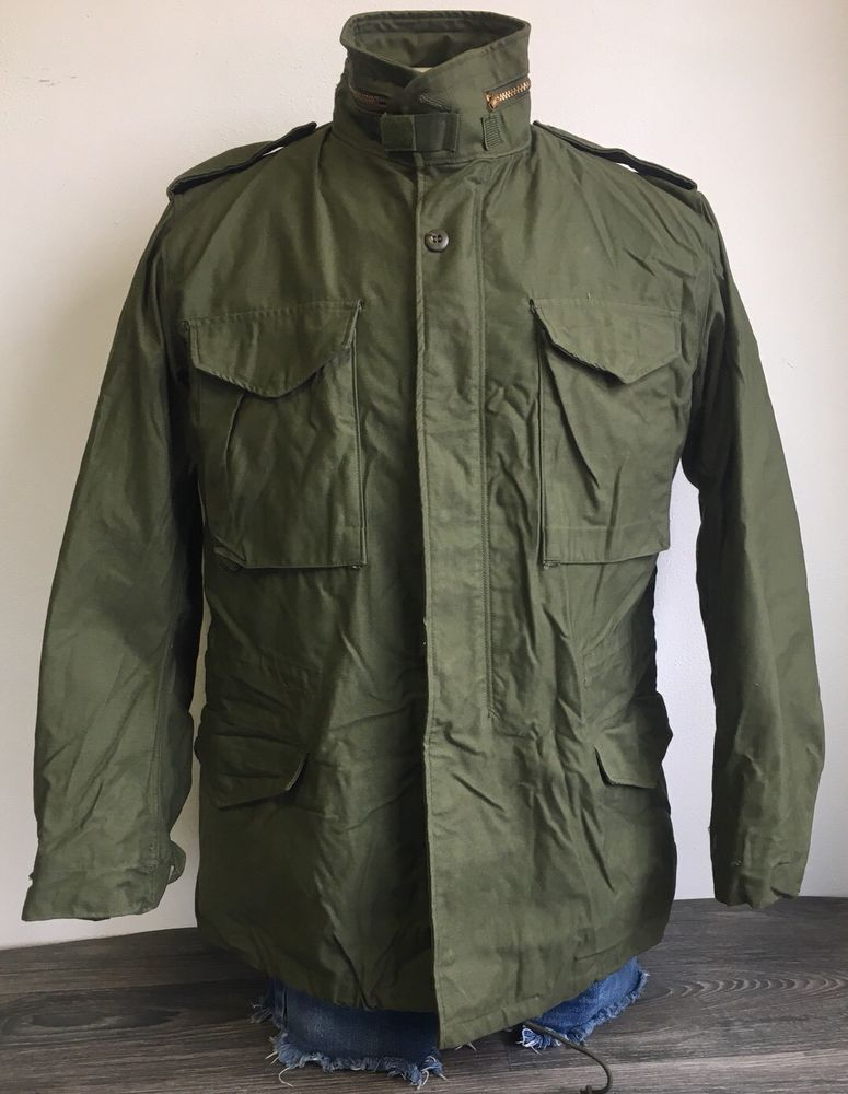 21aacf083b791 Vietnam M65 Field Jacket Vtg 1973 OG Men's Medium Long--EUC Minimally Worn!