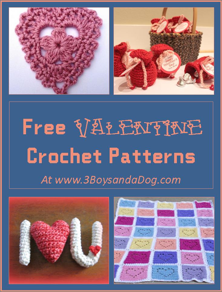 7 Free Valentine Crochet Patterns | Corazones de ganchillo, Tejido y ...