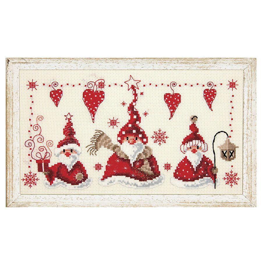 Christmas Gnomes - Cross Stitch, Needlepoint, Stitchery, and ...