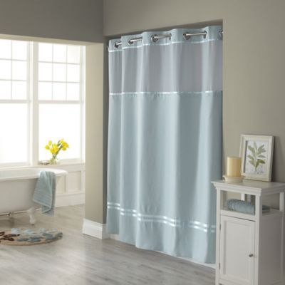 Hookless Escape 72 X 98 Fabric Shower Curtain And Liner Set In