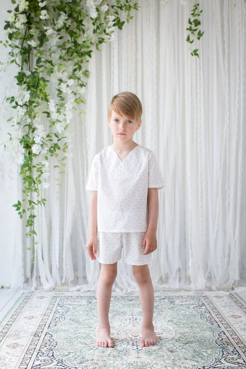 54a35239657e OTTO WHITE WITH GREY FISH -  Kids  Boys  Children  Nightwear  Sleepwear   Nightclothes  amikichildren