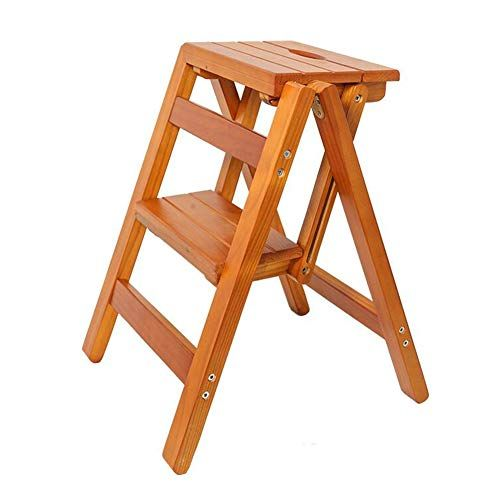 Admirable Ladder Stool Wwl Multifunction Wood Folding Step Stools Pabps2019 Chair Design Images Pabps2019Com