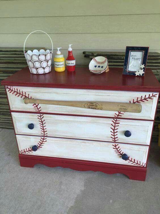 Baseball Dresser Painted Furniture