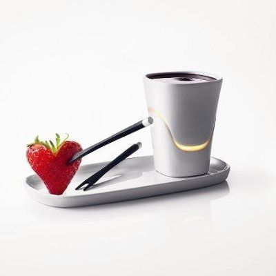 Get Chocolate Inspired: Chocolate Fondue Set by Menu #chocolatefonduerecipes