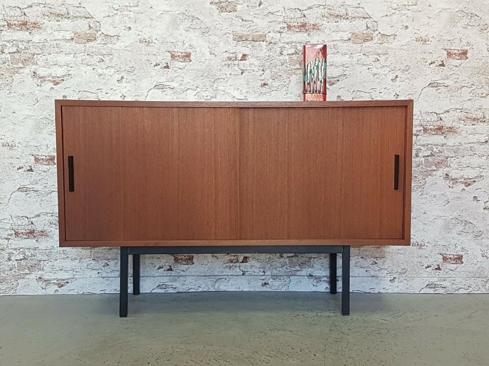 Mid Century Modern Teakwood Cabinet Sideboard Teak Anrichte