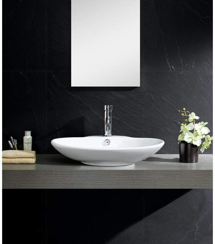 fine fixtures modern ceramic oval vessel bathroom sink