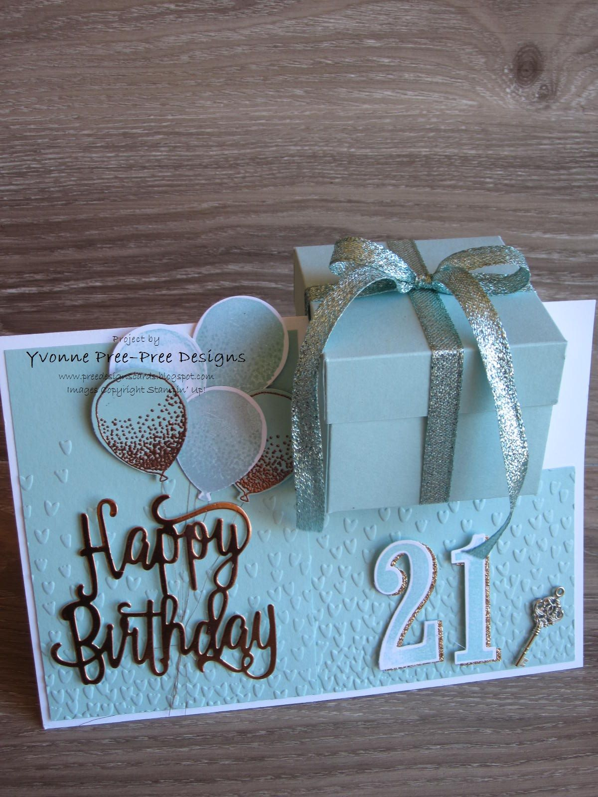 I Designed This Oversized A4 Card For My Daughters 21st The Layout Is A Gift Box N Ive Used Happy Birthday Thinlits Large Number And