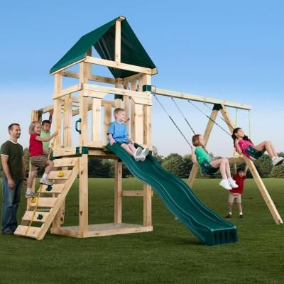 Swing N Slide Playsets Hawk S Nest Play Set Pb 9210 The Home Depot