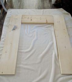 anleitung f r kaminumrandung aus holz selber bauen weihnachten kamin pinterest. Black Bedroom Furniture Sets. Home Design Ideas