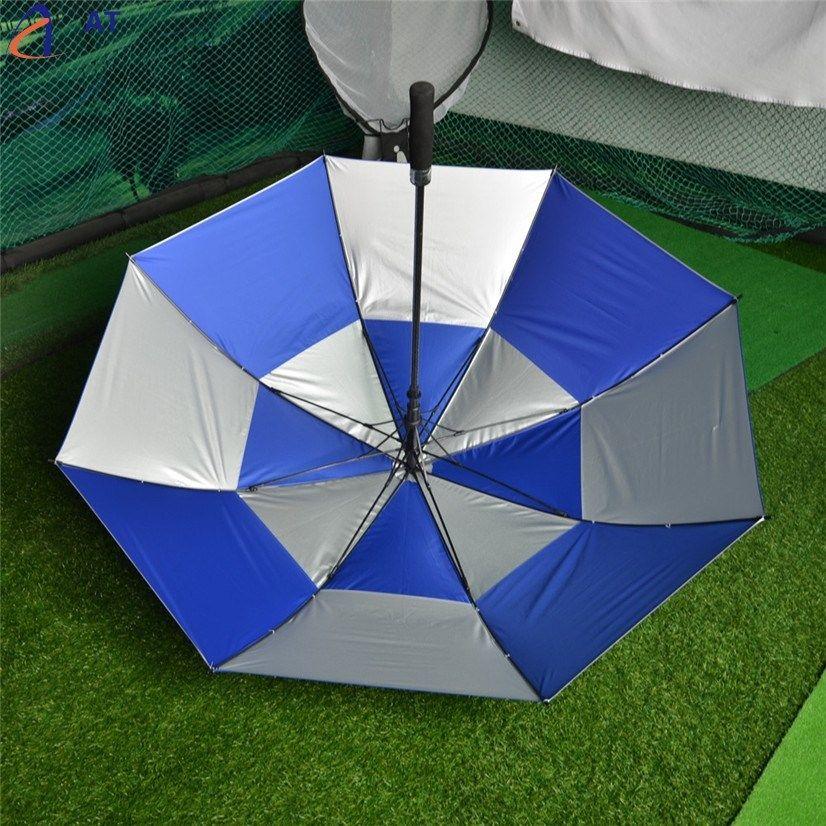 AT Fish SunDay Double Canopy Golf Umbrella Anti-UV Windproof Vented Canopy Fiberglass Frame la & AT Fish SunDay Double Canopy Golf Umbrella Anti-UV Windproof ...