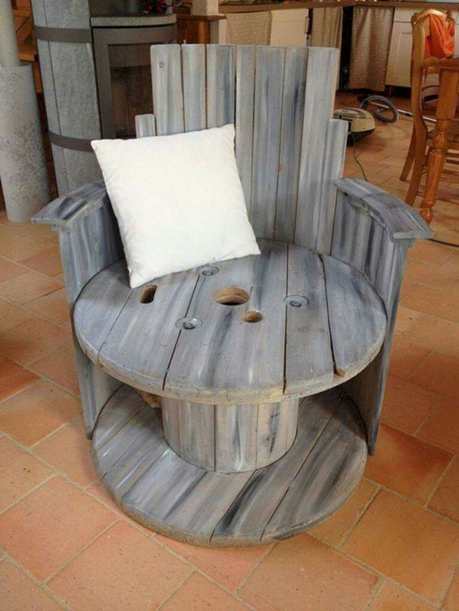 Marvelous Diy Recycled Wooden Spool Furniture Ideas For Your Home