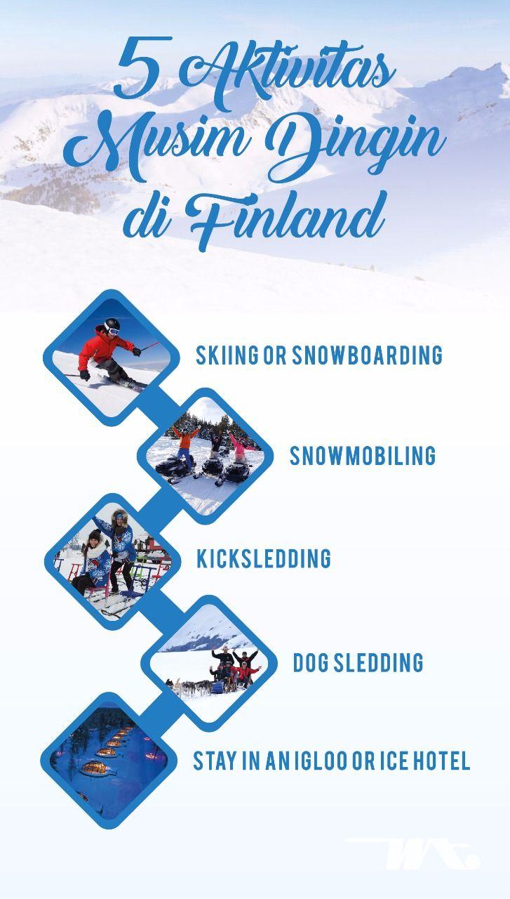 5 Aktivitas Musim Dingin Di Finland 1 Skiing Or Snowboarding 2 Snowmobiling 3 Kicksledding 4 Dog Sledding 5 Stay In An Igloo Finland Hotel Musim Dingin
