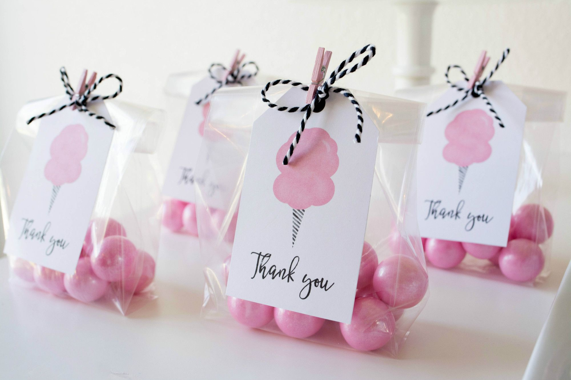 Cotton Candy Party Gumball Favors | Black Twine | Twinkle Twinkle ...