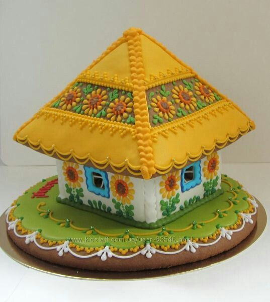 Gingerbread House Sunflower Roof Gingerbread House In