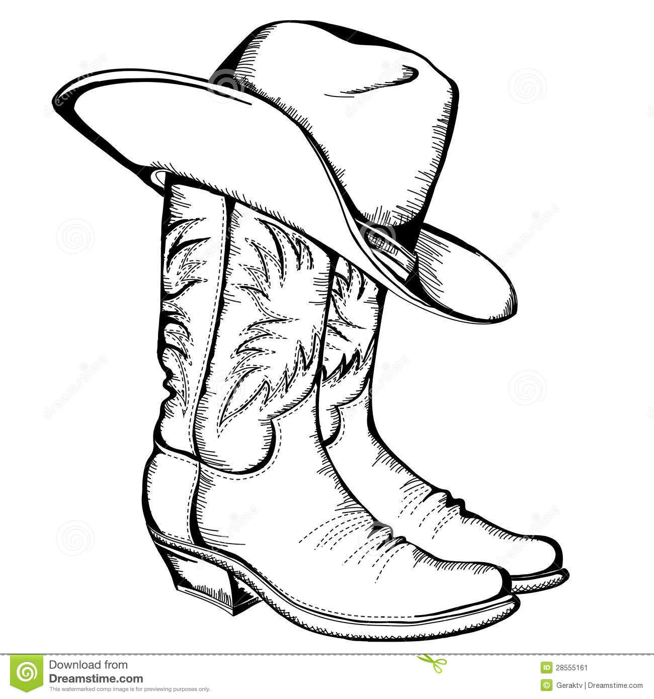 Cowboy Boots And Hat Cowboy Hat Drawing Wood Burning Patterns Cowboy Draw