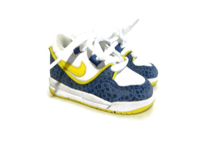 nike assault 2c white yellow blue leopard shoe sneaker baby toddler ...
