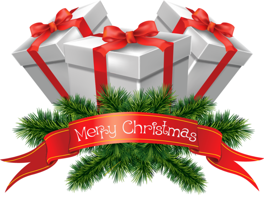 Merry Christmas Clip Art Christmas Gifts Clipart Png