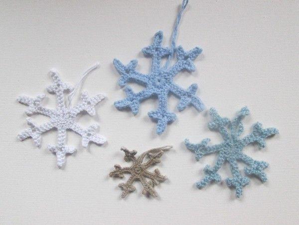 Kleine Weihnachtshäkeleien für zwischendurch - Schneeflocken und ...