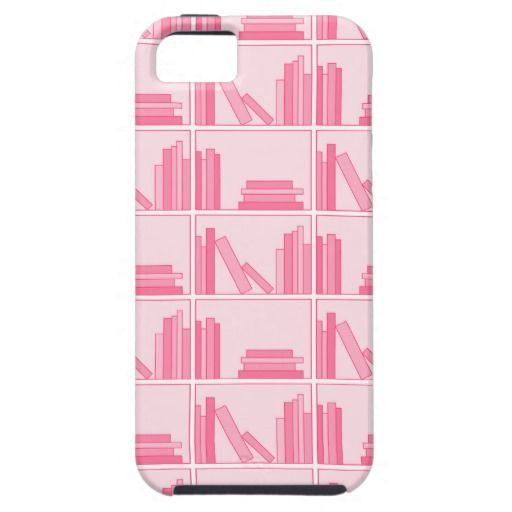 Pink Books on Shelf iPhone 5 Case - #zazzle