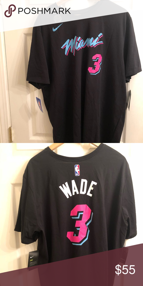 956931749 Nike NBA Dwyane Wade Miami Heat City Vice Shirt Nike NBA Dwyane Wade Miami  Heat Miami