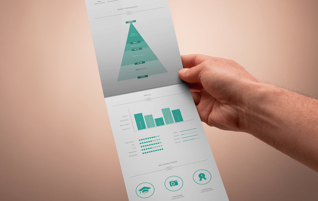 Vertical Resume Template By Fernando Bez  Cv