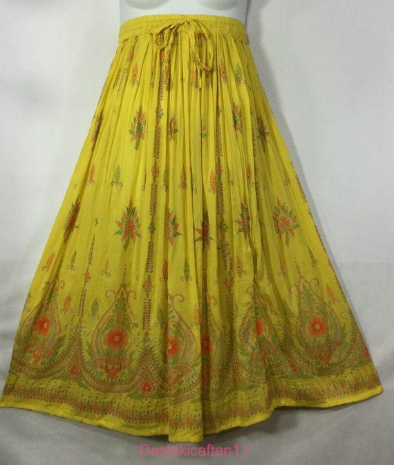 e61b275a6d Boho Indian Gypsy Skirt Women Long Skirt Hippie Dance Skirt | A-Line ...