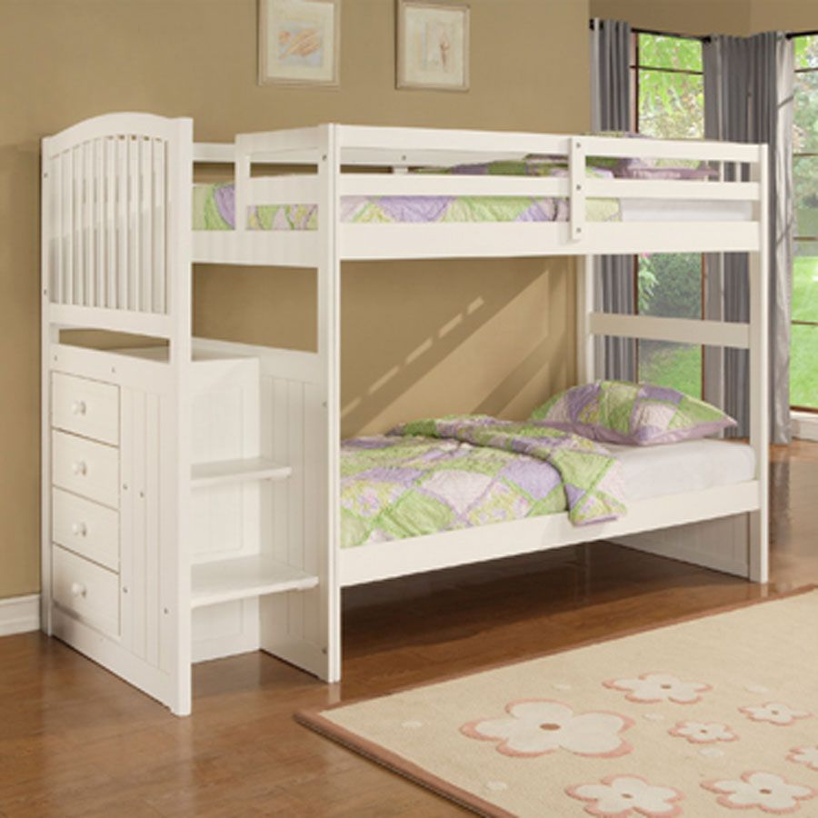 Best And Cute Bed Bunks For Kids Simple White Bed Bunk 400 x 300