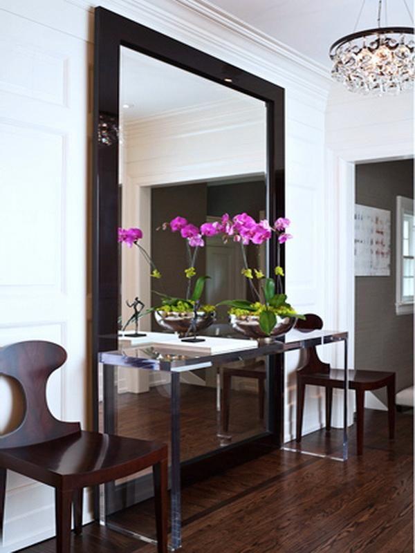 Floor Mirror Entryway Decor Lateral Chairs Entrance Mirror