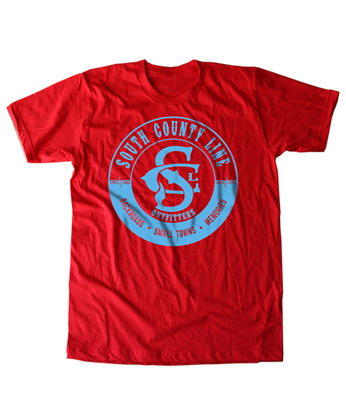South County Line - Circle Logo Tee Red Teal