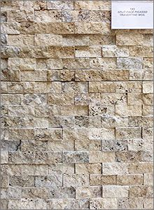 Picasso SplitFace Travertine Mosaic Backsplash Tiles Home ideas