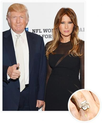 The Biggest Celebrity Engagement Rings Melania Trump Engagement Ring Celebrity Engagement Rings Ivanka Trump Wedding Ring
